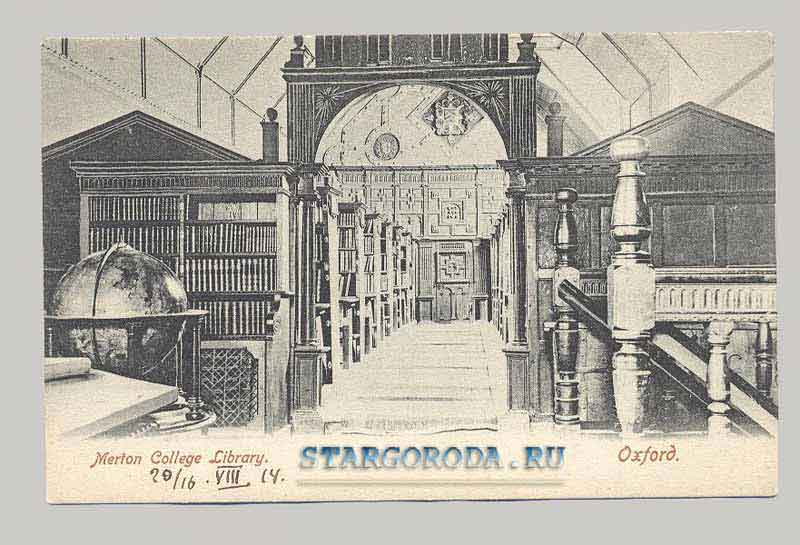 Oxford. Merton College Library, 1914