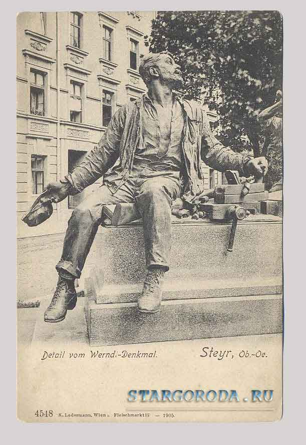 Steyr. Monument Wernadl, the inventor of fire arms in Austria