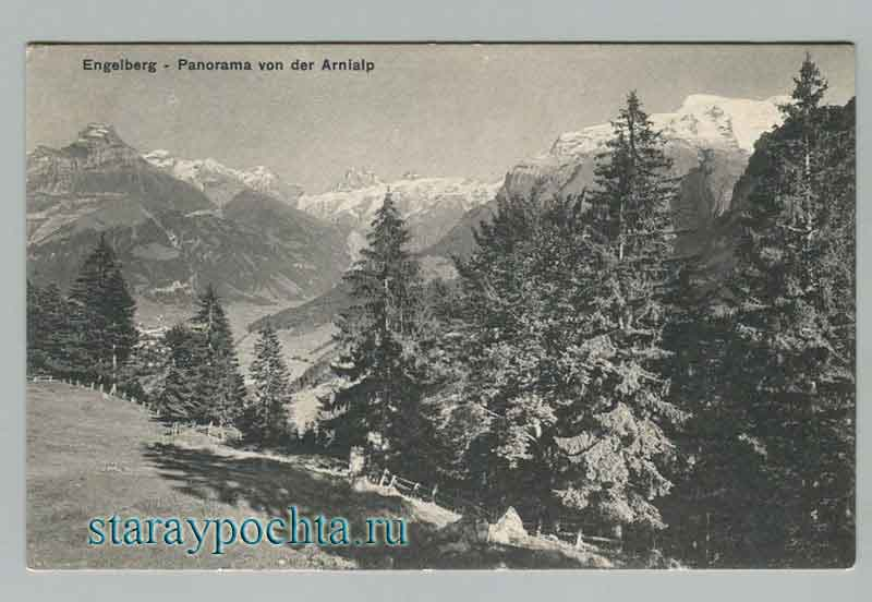 Engelberg. Panorama Of The Alps