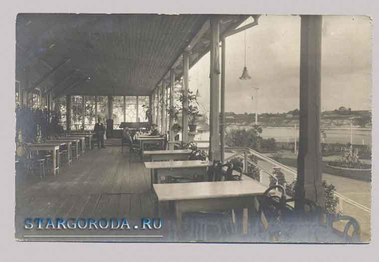Псков на почтовых открытках. Ресторан в селе Корытово.