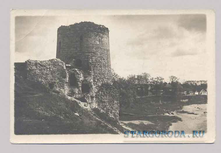 Псков на почтовых открытках Запсковье. Кислинская башня. 1525 год.