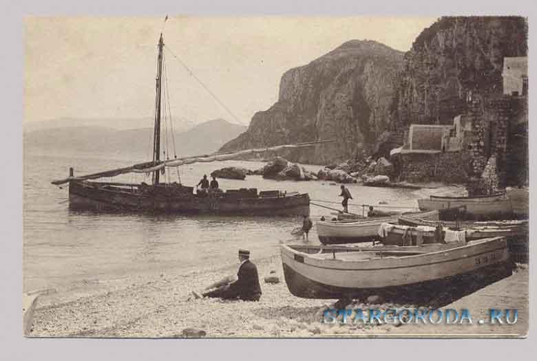 Виды на почтовых открытках. Италия.