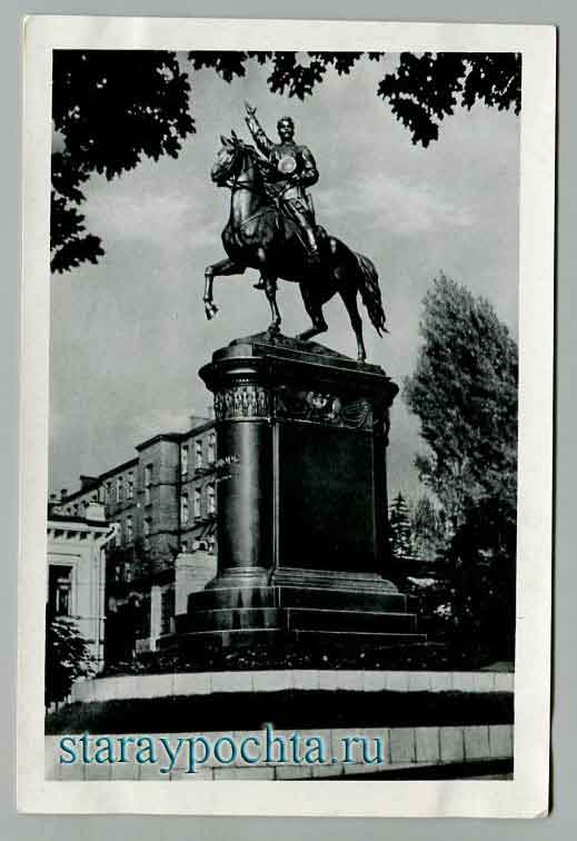 Kiev. Monument MO. Schers. Photo M. Wolfe. Editor A. Pogorelov. Factory mass product photo Ukr photo, 1955